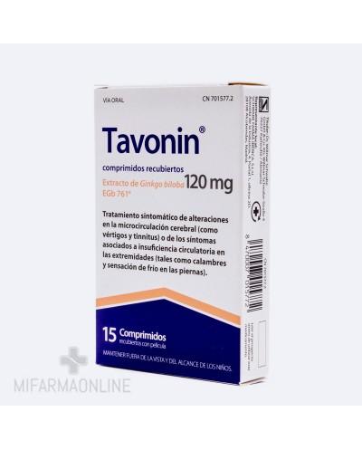 TAVONIN 120 MG 15 COMP